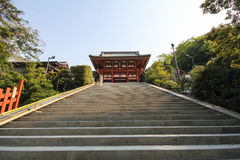 Santuario Kamakura, Giappone di Tsurugaoka Hachimangu Fotografie Stock