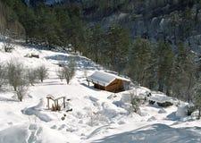 Santuario Rekom en la garganta de Tsey, Ossetia del norte. foto de archivo