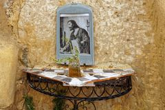 Santuario religioso deserto fotografie stock libere da diritti