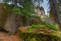 Santuario russo della natura di Stolby della riserva Vicino a Krasnojarsk immagini stock