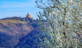 Santuario San Luca A Bologna - Sanctuary of Saint Luke Bologna - Colli Bolognesi area in spring royalty free stock photos