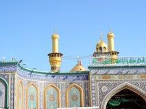 Santuario santo di Abbas Ibn Ali, Kerbala, Irak fotografia stock