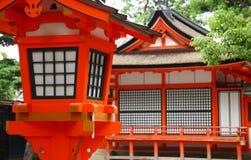 Santuario shintoista giapponese Immagini Stock Libere da Diritti