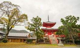 Santuario shintoista a Kyoto, Giappone fotografia stock
