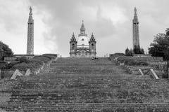 Santuary av vår dam av Sameiro, Braga, Portugal royaltyfri fotografi