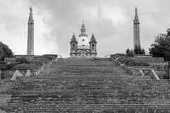 Santuary de nossa senhora de Sameiro, Braga, Portugal fotografia de stock royalty free