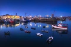 Santurce port at night. Santurce port at the night royalty free stock images