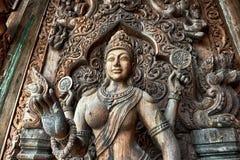 Santuário da verdade, Pattaya Foto de Stock