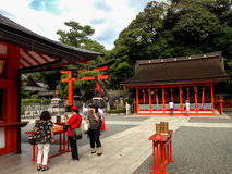 Santuário do taisha de Fushimi Inari em Kyoto, Japão Foto de Stock
