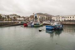 Santurtzi, país Basque, Espanha fotografia de stock royalty free
