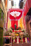 Santuzza Santa Rosalia. Santuzza S. Rosalia decorated with flowers for the feast in Palermo royalty free stock photo