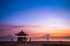 Sanur beach at Bali, Indonesia Royalty Free Stock Photo