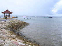 sanur na plaży Obrazy Royalty Free