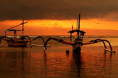 Sanur-Strand stockbild