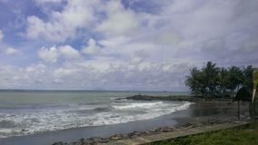 Sanur strand, Bali, Indonesien Arkivfoton
