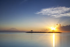 Sanur Sunrise, Bali Island of Indonesia. Royalty Free Stock Photography