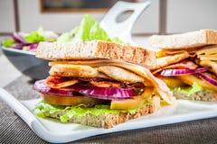 Sanwich цыпленка стоковые изображения