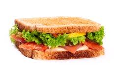 Sanwich avec des saumons Photos libres de droits
