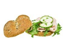 Sanwich nouvellement fabriqué image libre de droits