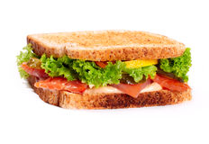 Sanwich with salmon Royalty Free Stock Photos