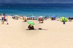 Sanxenxo strand i Galicia Royaltyfri Foto