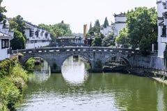 Sanxianbrug (Brug die drie provincies met elkaar verbinden) royalty-vrije stock foto