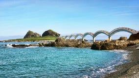 Sanxiantai Dragon Bridge foto de stock