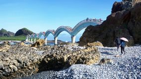 Sanxiantai Dragon Bridge imagens de stock