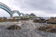 Sanxiantai ist im Norden von Chenggong-Gemeinde in Taitung County es compsed von den küstennahen Inseln und von den Korallenriffe lizenzfreies stockfoto