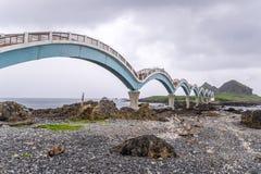 Sanxiantai ist im Norden von Chenggong-Gemeinde in Taitung County es compsed von den küstennahen Inseln und von den Korallenriffe lizenzfreies stockbild