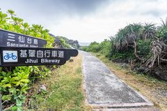 Sanxiantai ist im Norden von Chenggong-Gemeinde in Taitung County es compsed von den küstennahen Inseln und von den Korallenriffe stockfotografie