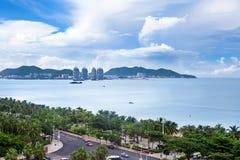 Sanya Bay, isla de Hainan, China Fotos de archivo