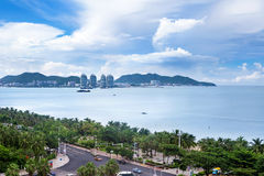 Sanya Bay, île de Hainan, Chine Photos stock