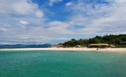 Sanya Beach. A tropical beach paradise in Sanya, China Stock Photo