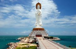 SanYa, China: Guan Yin Boedha Royalty-vrije Stock Foto's