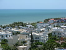 Sanya city on Hainan island. Scenic view of Sanya city on coastline of Hainan island, China Stock Photos