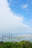 Sanya City Overlooking Stock Images