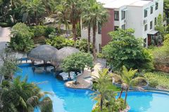 Sanya, Hainan, China, comfortabel weer, privé toevlucht, reisplaats, a moet plaatsen om te gaan Royalty-vrije Stock Foto's