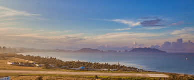 Sanya in the morning. Sunrise on the south-china sea, Hainan - tropical island in China Stock Photography