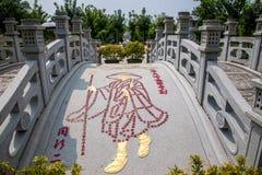 Sanya Nanshan Buddhist Tantric return Yokado flowerbed. Sanya City, Hainan Nanshan Temple, located 40 kilometers west of Sanya City, Hainan Nanshan Cultural Stock Image