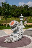 Sanya Nanshan Buddhist Tantric returYokado blomsterrabatt Arkivfoton