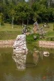 Sanya Nanshan Buddhist Tantric returYokado blomsterrabatt Royaltyfria Bilder