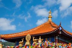 Sanya Nanshan Buddhist tempel Jinyu Guanyin Royaltyfri Fotografi