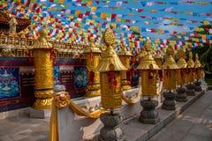 Sanya Nanshan Buddhist tempel Jinyu Guanyin Royaltyfri Bild