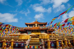 Sanya Nanshan Buddhist tempel Jinyu Guanyin Arkivfoton