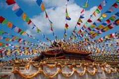 Sanya Nanshan Buddhist tempel Jinyu Guanyin Arkivbild