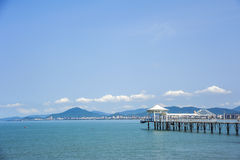 Sanya Phoenix Island super star Hotel View Taiwan Royalty Free Stock Images
