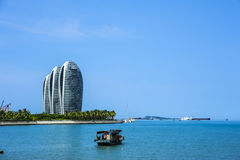 Sanya Phoenix Island Super Star-Hotels Lizenzfreies Stockbild