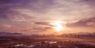 Sanya soluppgång Arkivbilder