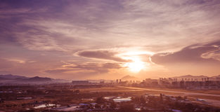 Sanya-Sonnenaufgang Stockbilder
